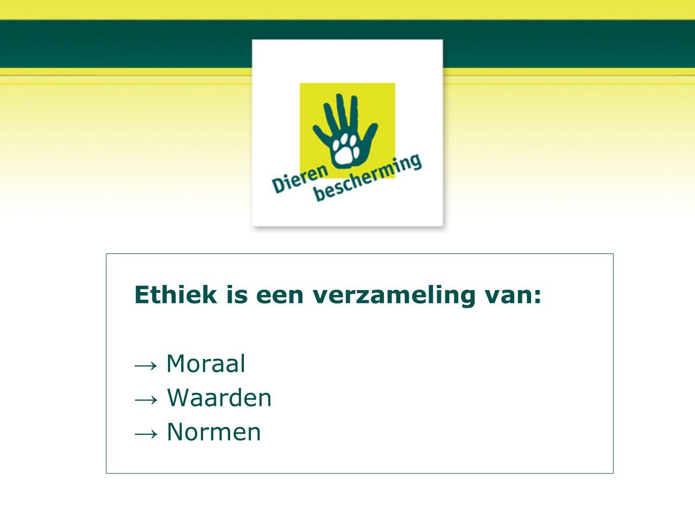 Ethiek is een verzameling van: → Moraal → Waarden → Normen