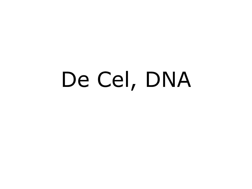 De Cel, DNA