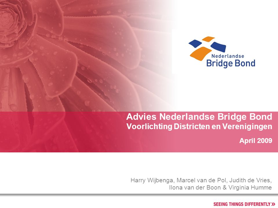 Advies Nederlandse Bridge Bond Voorlichting Districten en Verenigingen