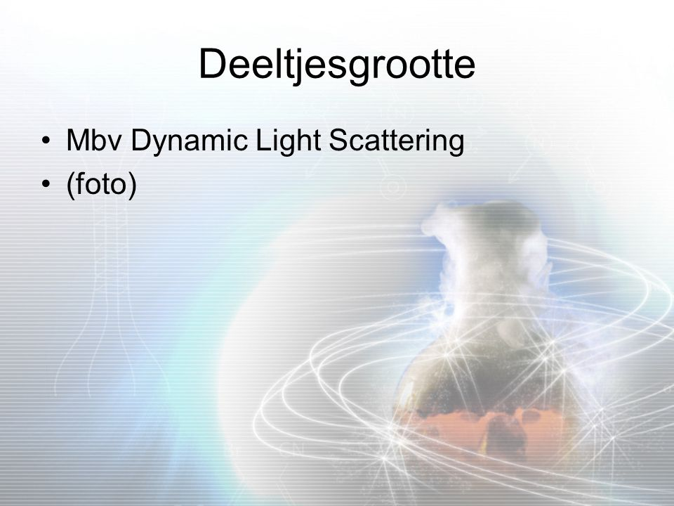 Deeltjesgrootte Mbv Dynamic Light Scattering (foto)