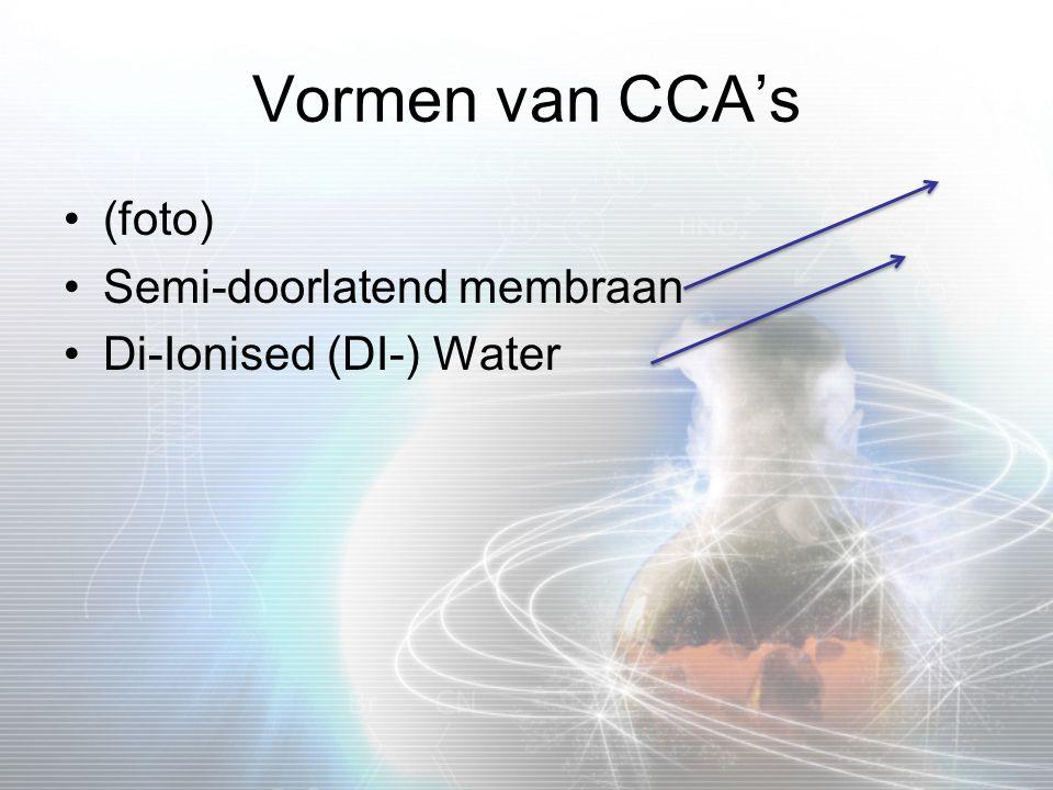 Vormen van CCA's (foto) Semi-doorlatend membraan
