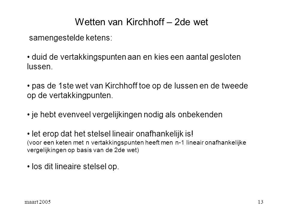 Wetten van Kirchhoff – 2de wet