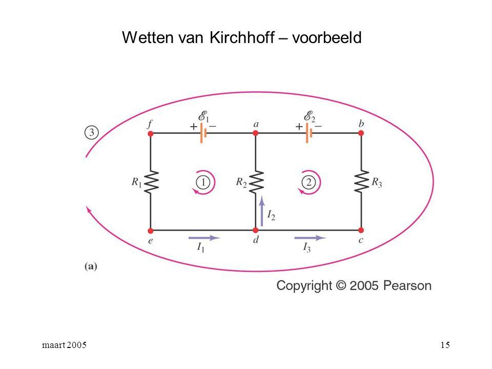 Wetten van Kirchhoff – voorbeeld