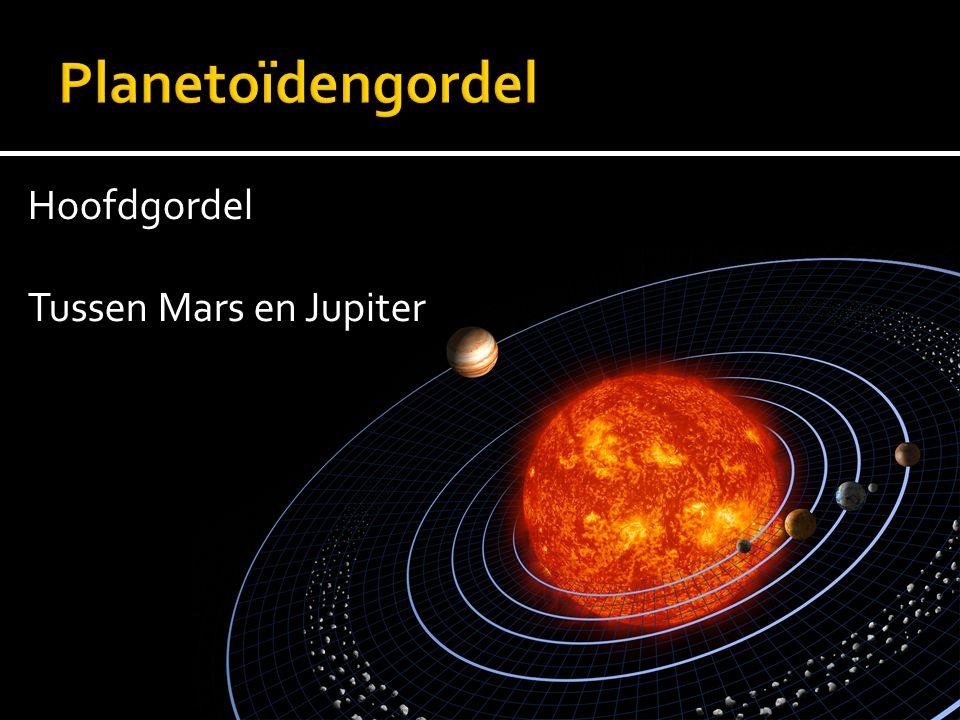 Planetoïdengordel Hoofdgordel Tussen Mars en Jupiter