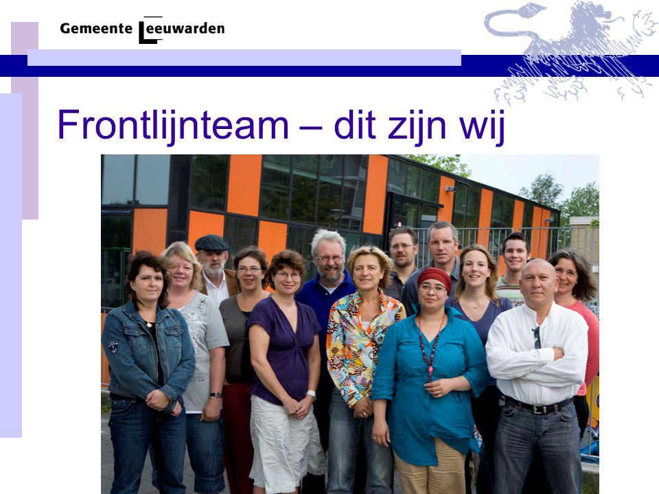 Frontlijnteam – dit zijn wij