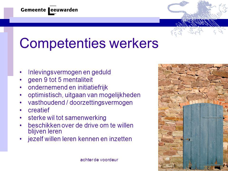 Competenties werkers Inlevingsvermogen en geduld