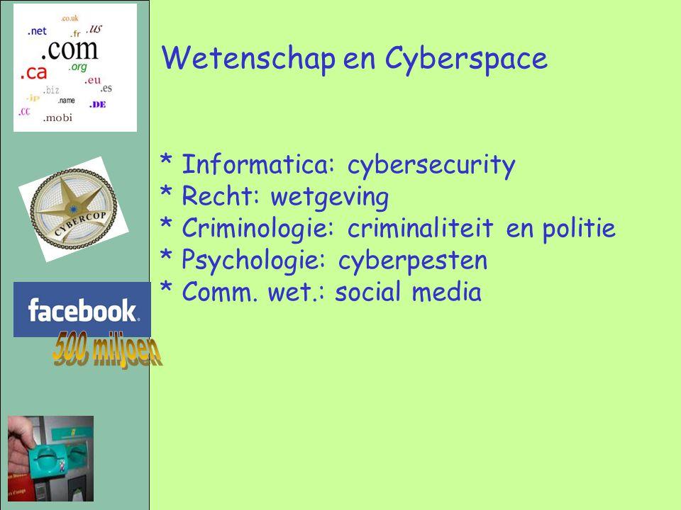500 miljoen Wetenschap en Cyberspace * Informatica: cybersecurity