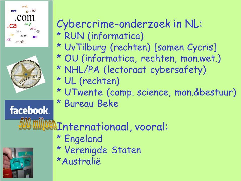 500 miljoen Cybercrime-onderzoek in NL: Internationaal, vooral: