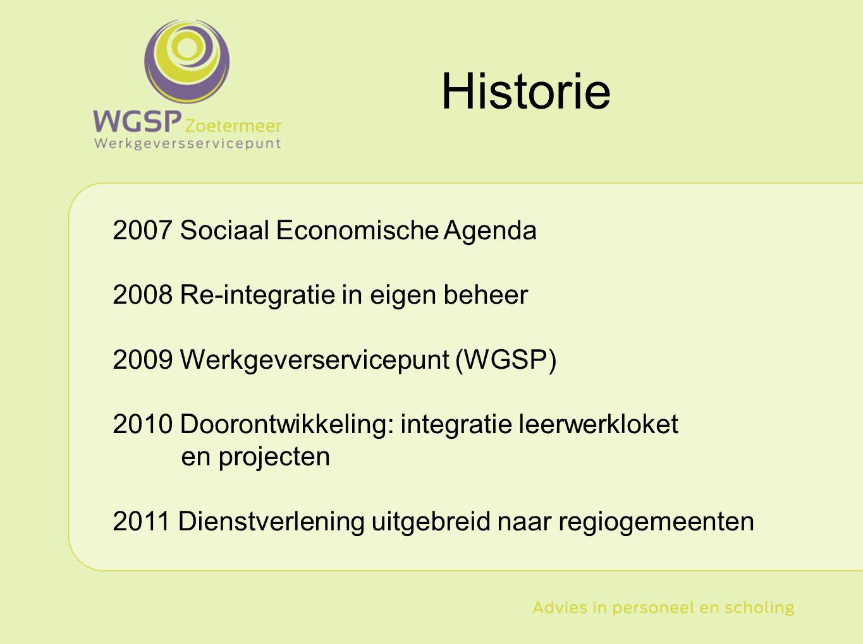 Historie 2007 Sociaal Economische Agenda