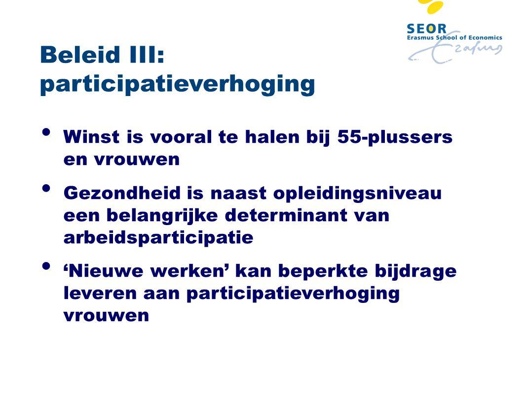 Beleid III: participatieverhoging