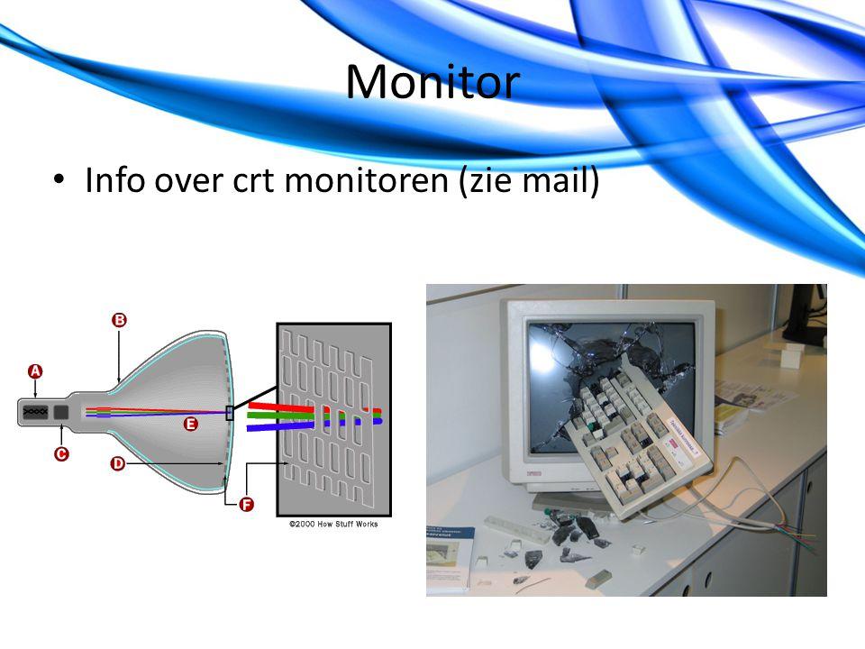 Monitor Info over crt monitoren (zie mail)