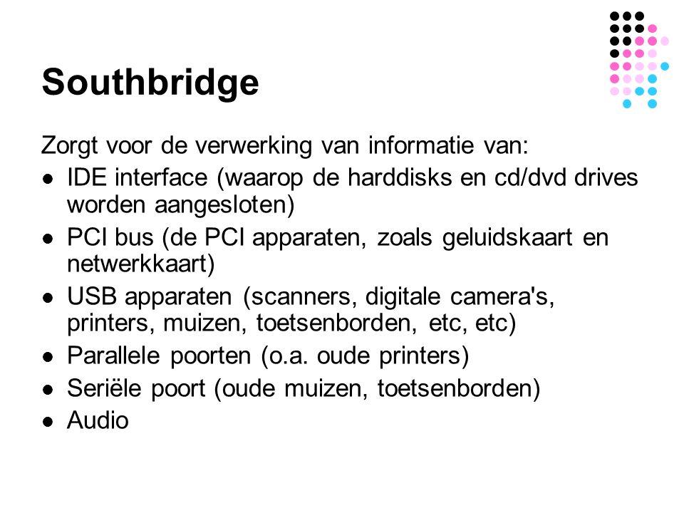 Southbridge Zorgt voor de verwerking van informatie van: