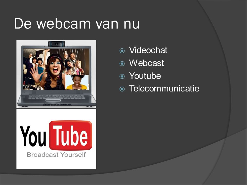 De webcam van nu Videochat Webcast Youtube Telecommunicatie