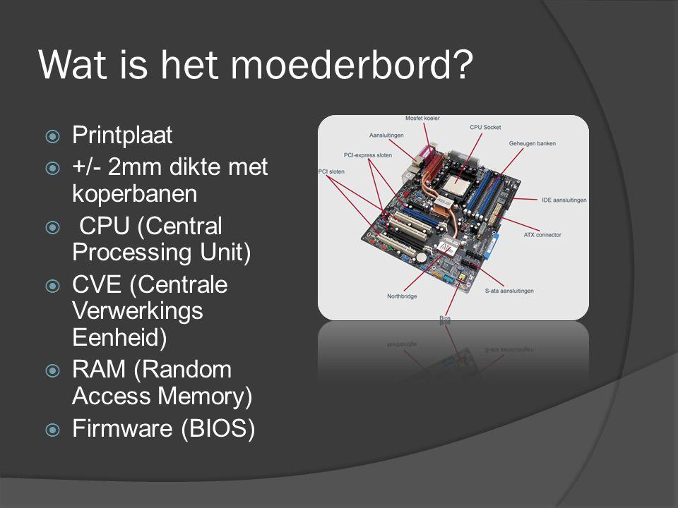 Wat is het moederbord Printplaat +/- 2mm dikte met koperbanen