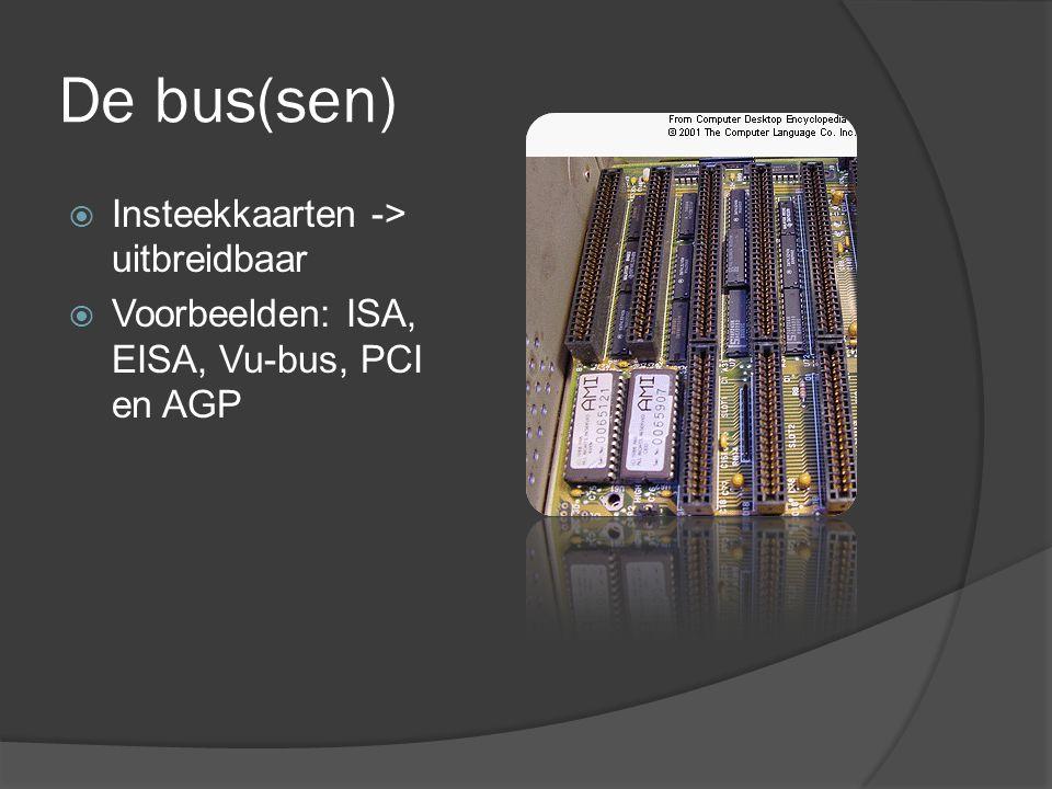 De bus(sen) Insteekkaarten -> uitbreidbaar