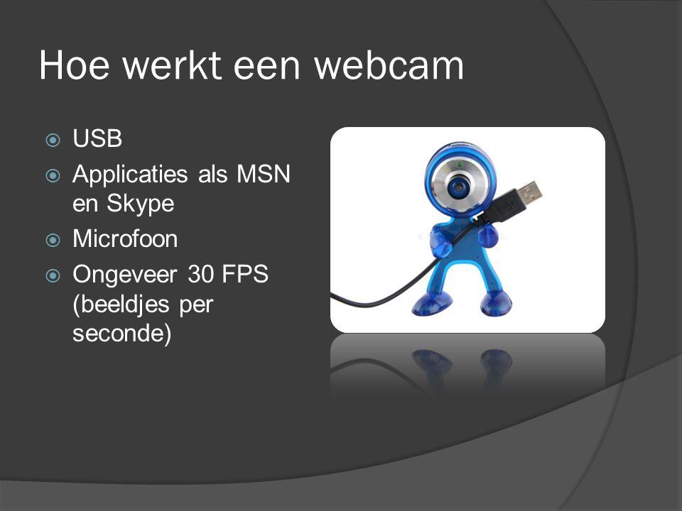 Hoe werkt een webcam USB Applicaties als MSN en Skype Microfoon