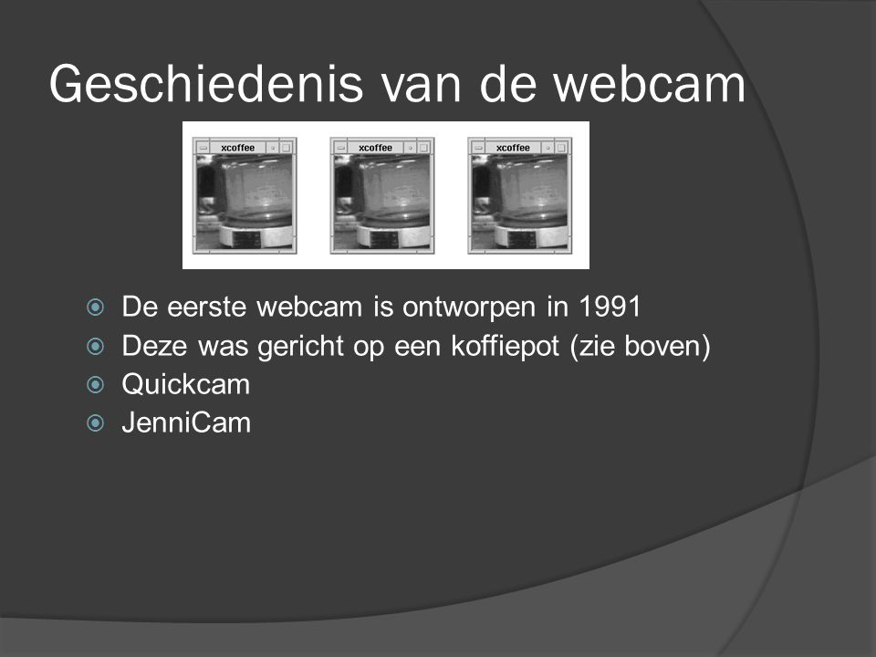 Geschiedenis van de webcam