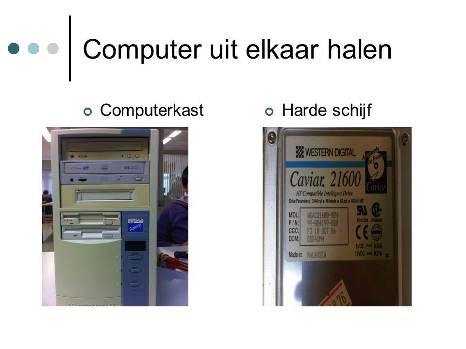 Computer uit elkaar halen