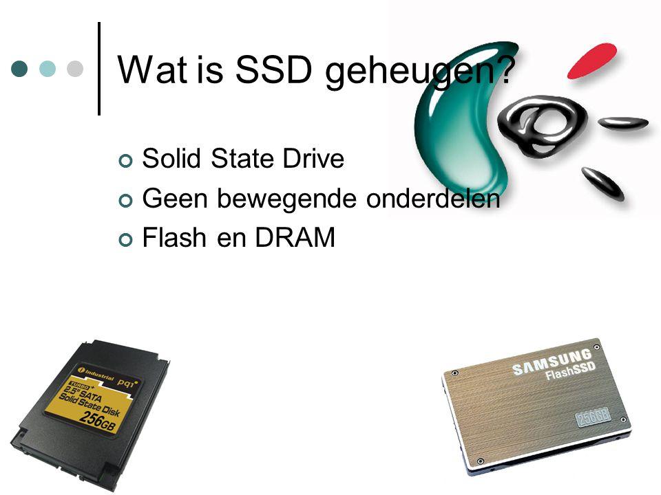 Wat is SSD geheugen Solid State Drive Geen bewegende onderdelen
