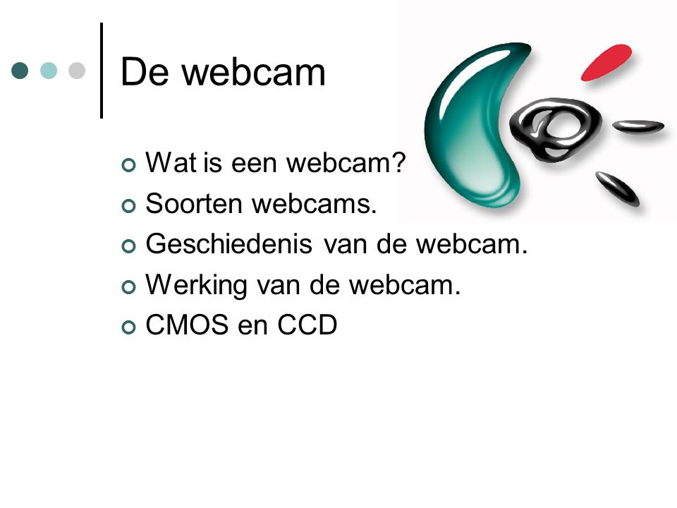 De webcam Wat is een webcam Soorten webcams.