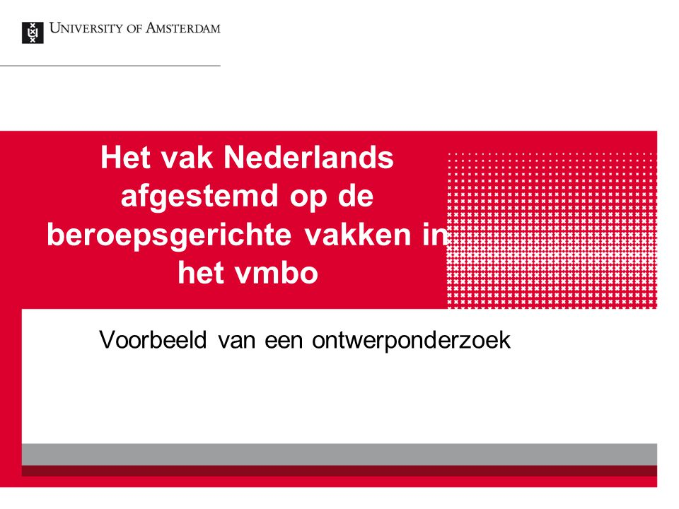 Het vak Nederlands afgestemd op de beroepsgerichte vakken in het vmbo