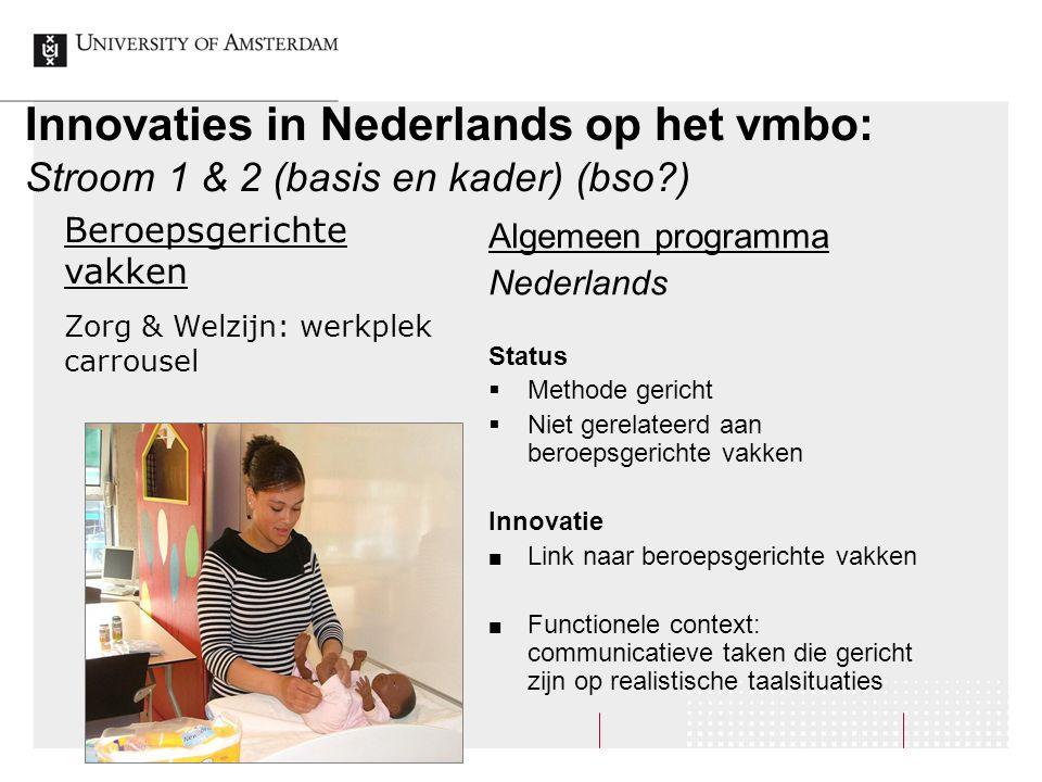 Innovaties in Nederlands op het vmbo: Stroom 1 & 2 (basis en kader) (bso )