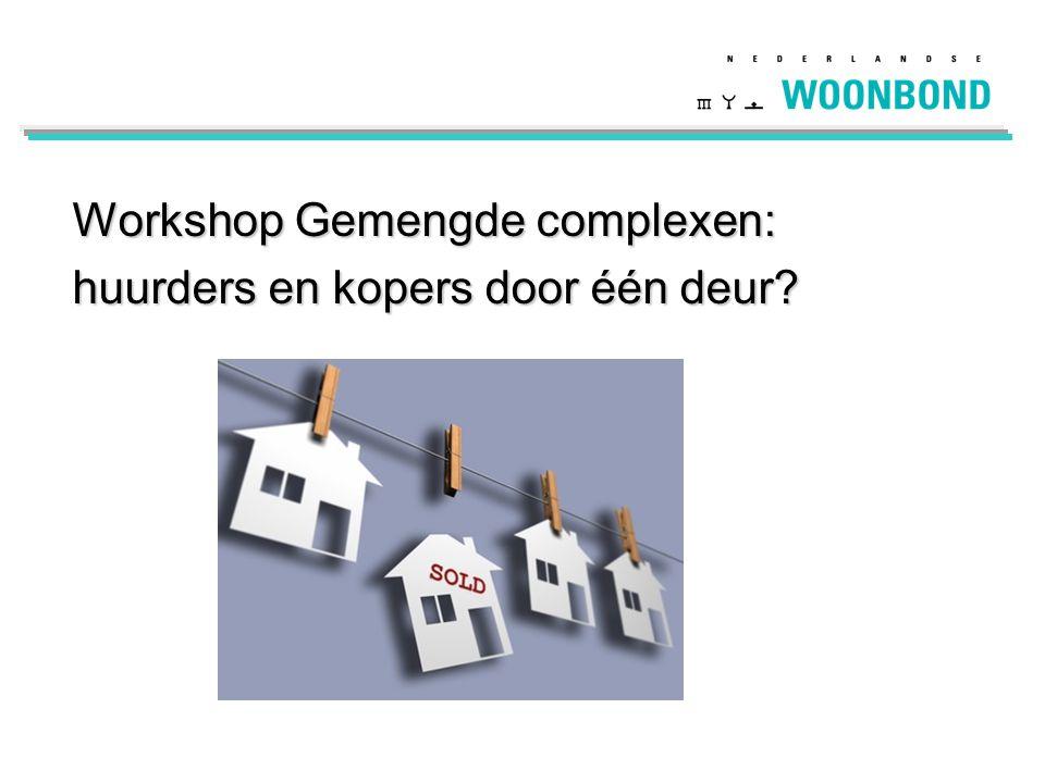 Workshop Gemengde complexen: huurders en kopers door één deur