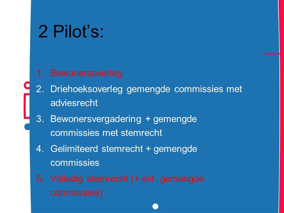 2 Pilot's: Bewonersoverleg