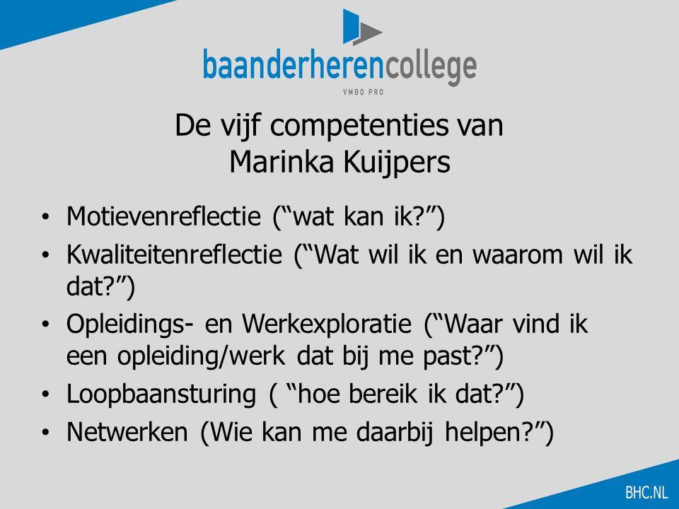 De vijf competenties van Marinka Kuijpers