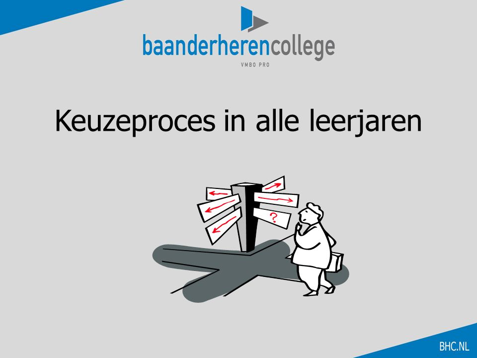 Keuzeproces in alle leerjaren