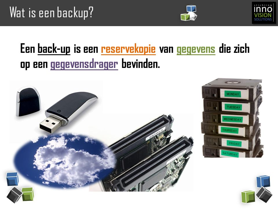 Wat is een backup.