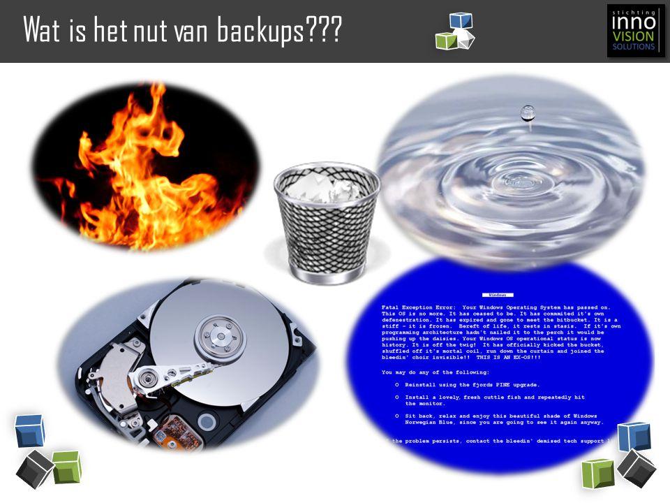 Wat is het nut van backups