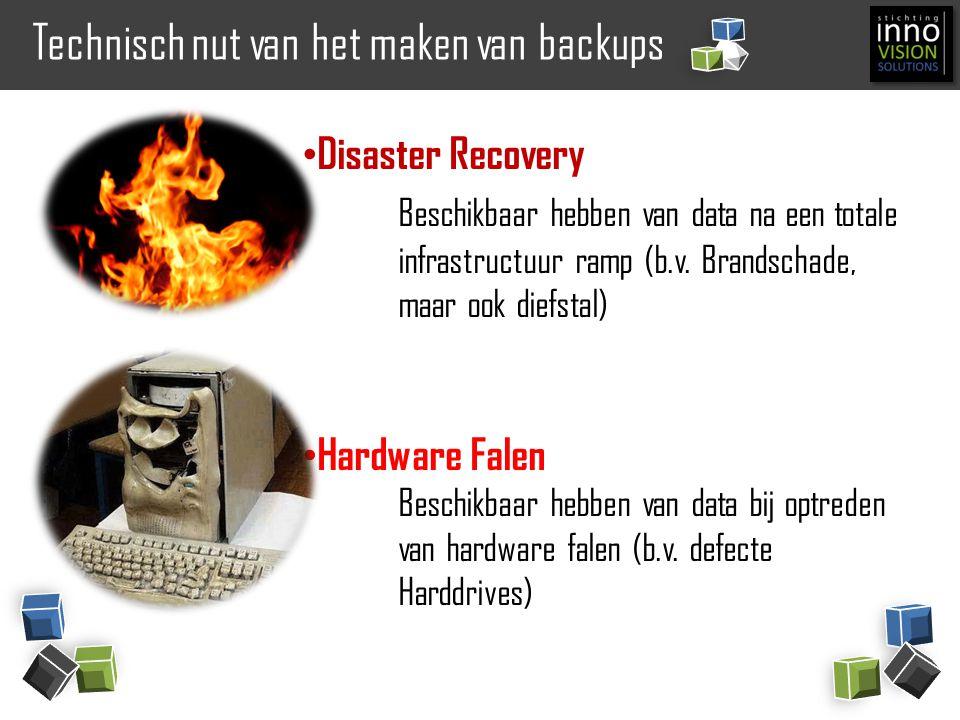 Technisch nut van het maken van backups