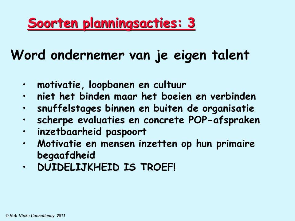 Soorten planningsacties: 3