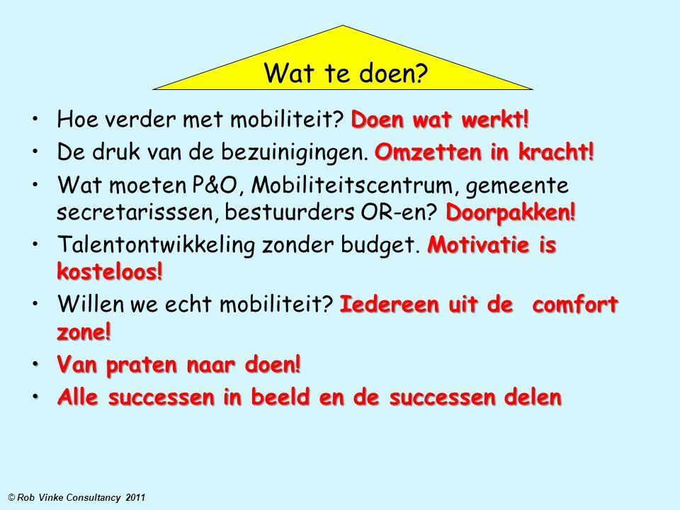 Wat te doen Hoe verder met mobiliteit Doen wat werkt!