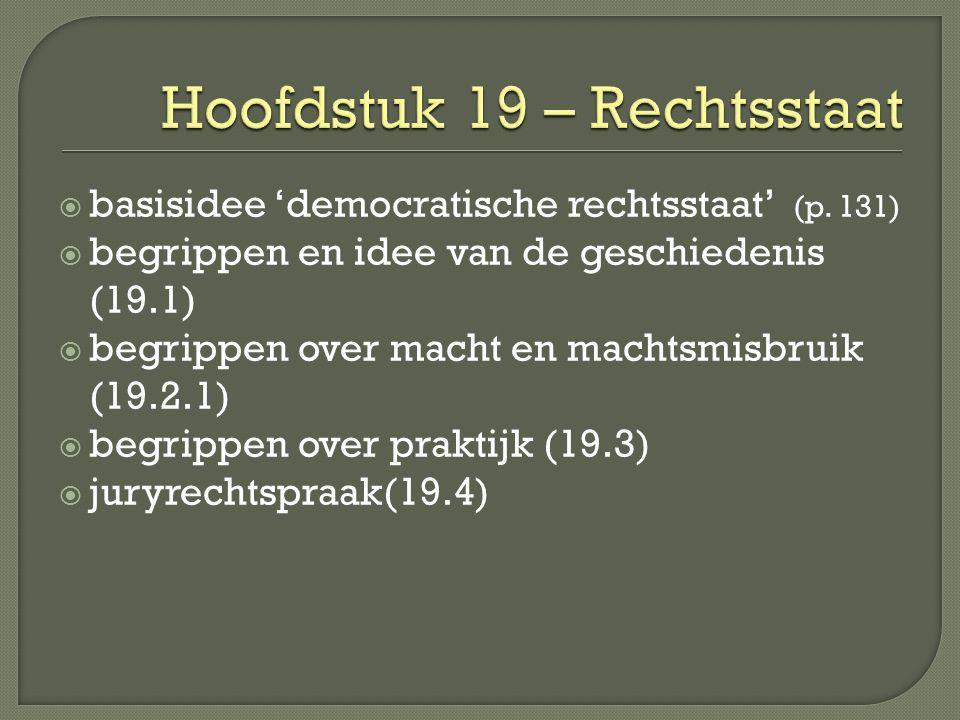 Hoofdstuk 19 – Rechtsstaat