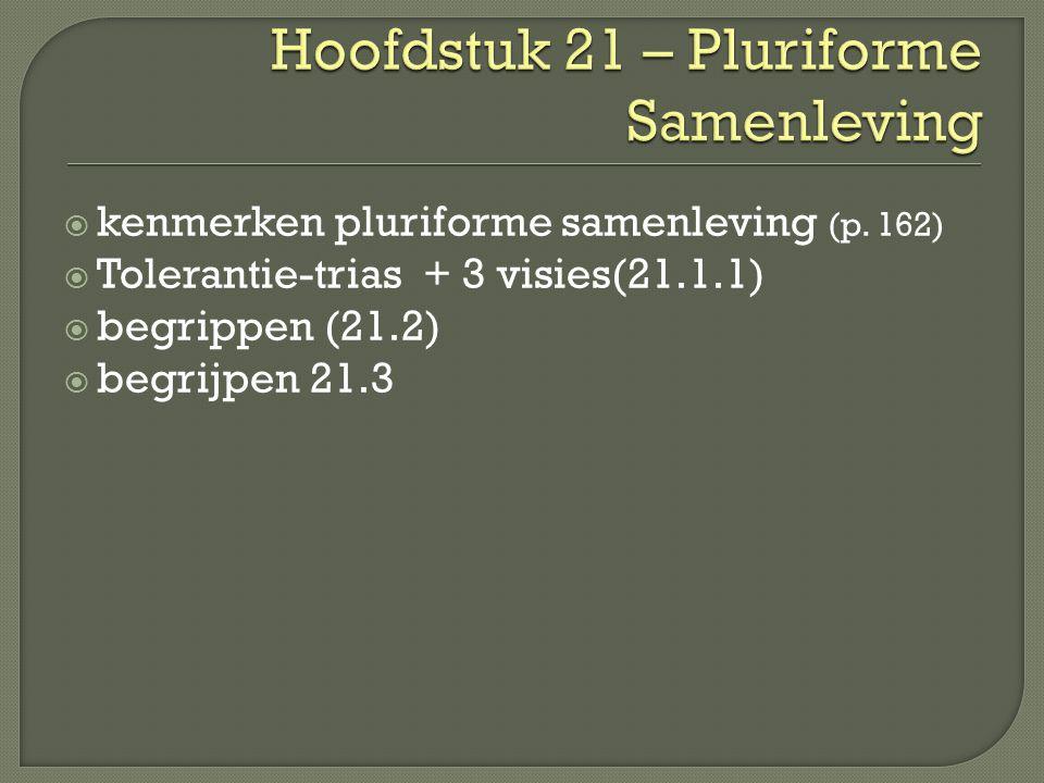Hoofdstuk 21 – Pluriforme Samenleving