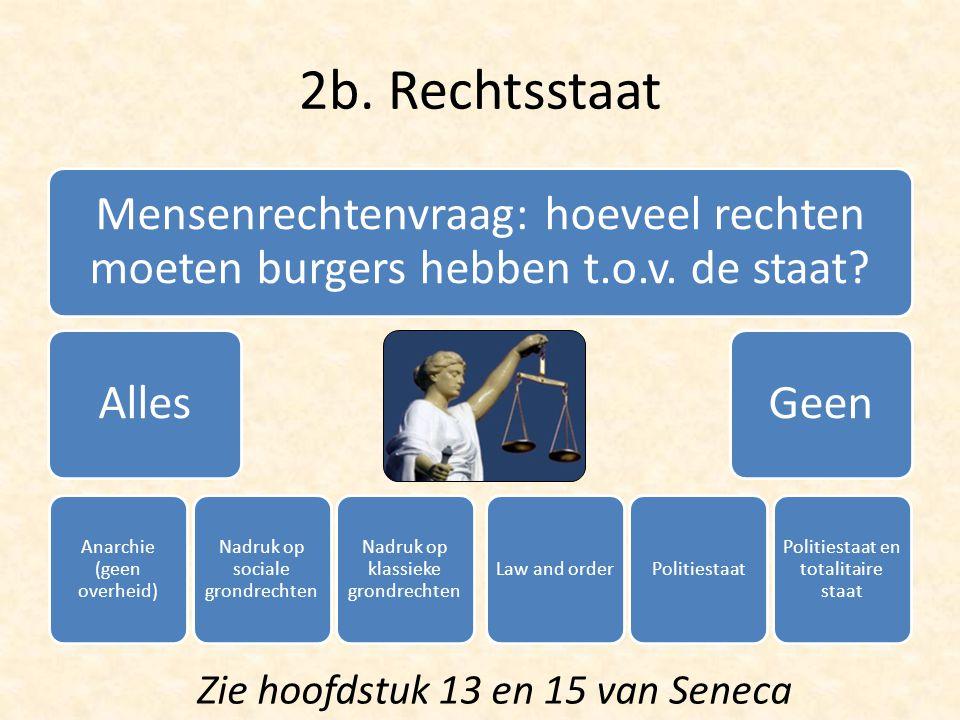 2b. Rechtsstaat Zie hoofdstuk 13 en 15 van Seneca