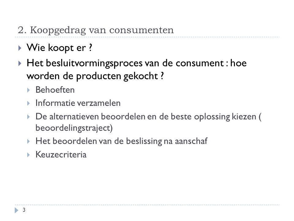 2. Koopgedrag van consumenten