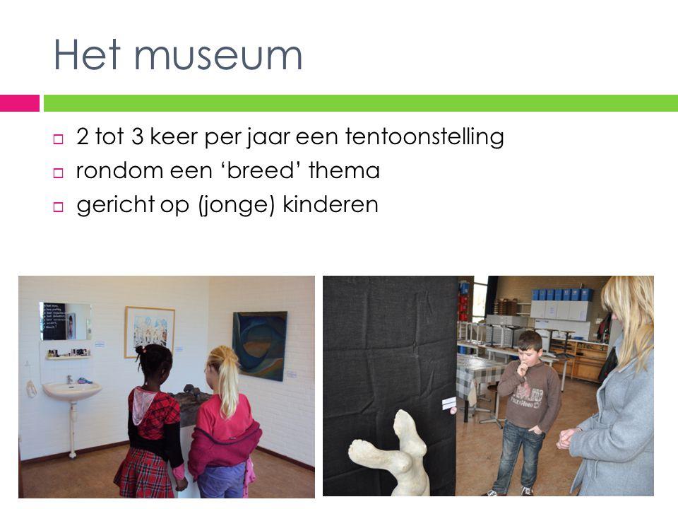 Het museum 2 tot 3 keer per jaar een tentoonstelling