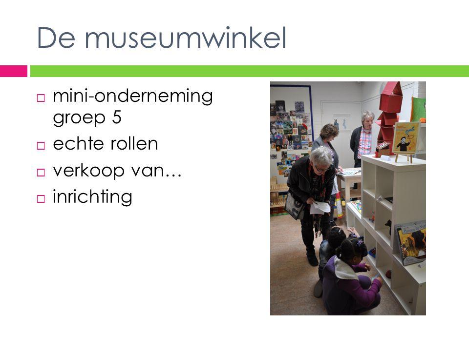 De museumwinkel mini-onderneming groep 5 echte rollen verkoop van…