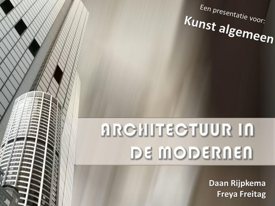 ARCHITECTUUR IN DE MODERNEN