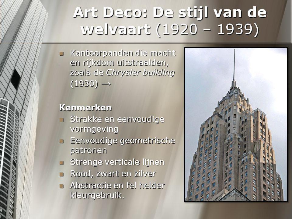 Art Deco: De stijl van de welvaart (1920 – 1939)