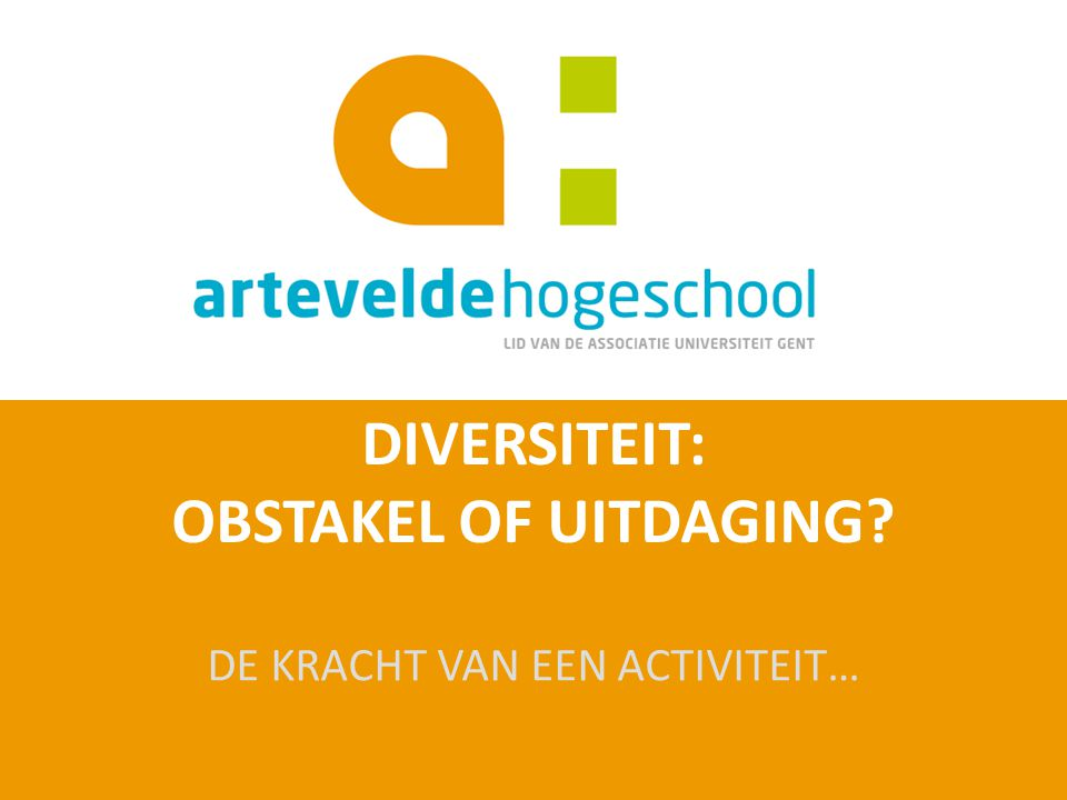 DIVERSITEIT: OBSTAKEL OF UITDAGING