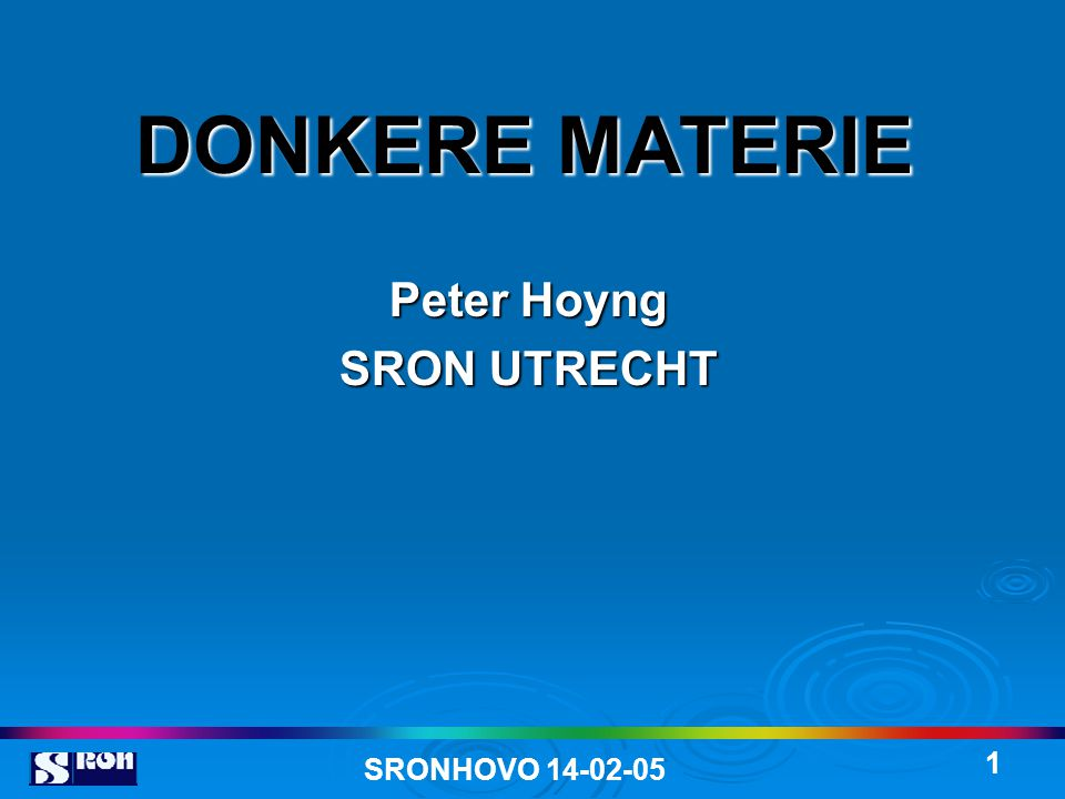 Peter Hoyng SRON UTRECHT