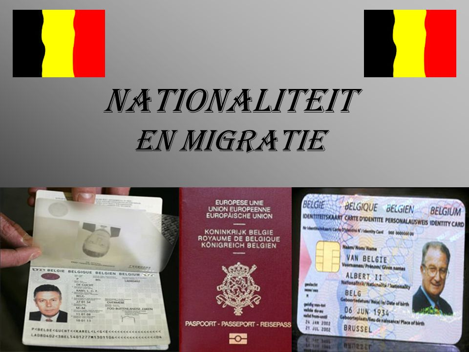 NATIONALITEIT EN MIGRATIE