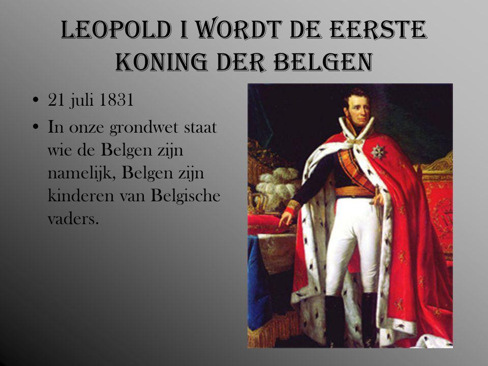 Leopold I wordt de eerste koning der Belgen