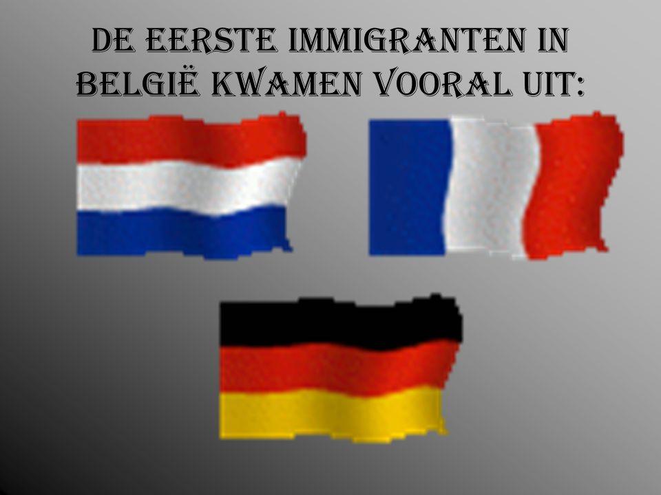 De eerste immigranten in België kwamen vooral uit: