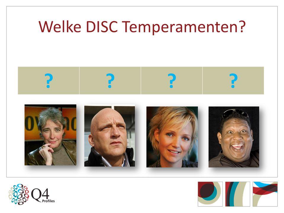 Welke DISC Temperamenten