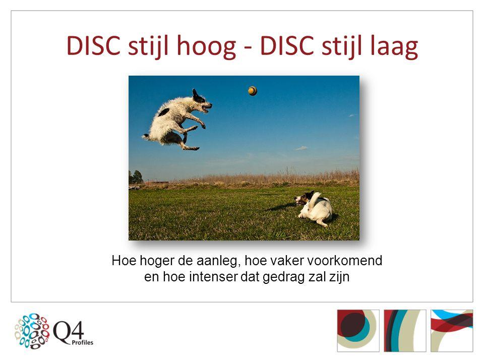 DISC stijl hoog - DISC stijl laag